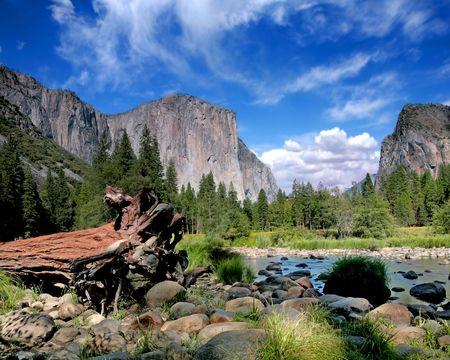 el: El Capitan View in Yosemite Nation Park on a Beautiful Sunny Day