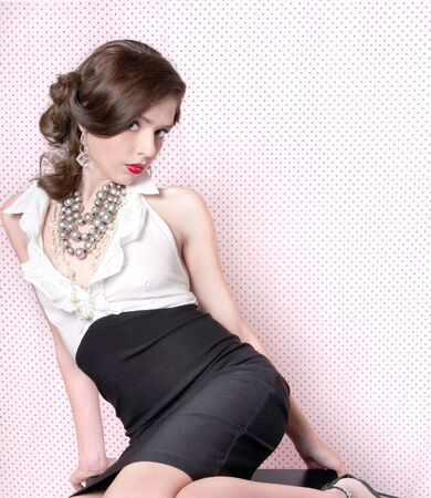 Lovely Sensual Woman Dressed in Retro Vintage Style Stock Photo - 4687621