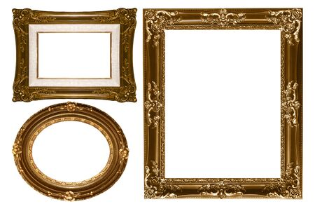 Decorative Gold Empty Wall Picture Frames to Insert Your Own Design photo