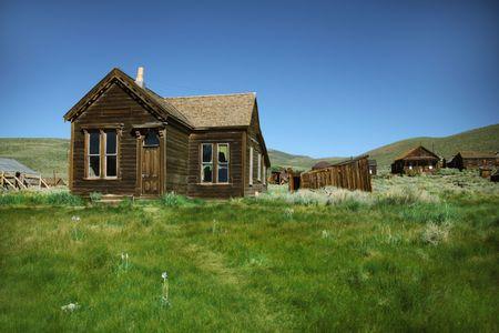 Ghost Town Home in Bodie California Stock fotó
