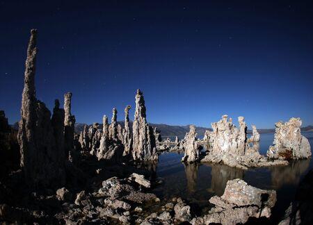 Tufas of Mono Lake Califonia at Night