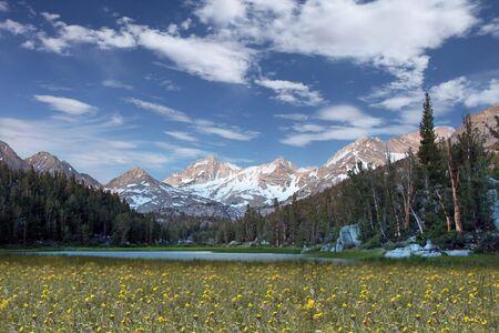 Snow Caps on the Eastern Sierra Mountains Stock Photo - 5315761