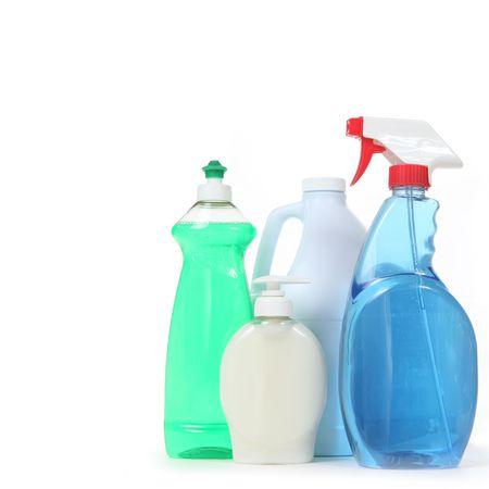 Productos de limpieza del hogar para uso diario Foto de archivo - 5315811