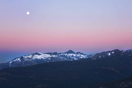 blue ridge mountains: Minaretes at Sunrise Near Mammoth Mountain in the Sierras Stock Photo