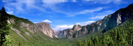 Panoramic Shot of Tunnel View In Yosemite National Park photo