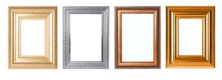 Four Frames to Isolate for any Project in Gold Silver and Wooden Color