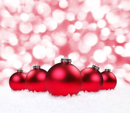 Festive Christmas Holiday Bulbs With Sparkling Background Stock Photo - 6159861
