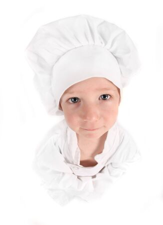 Child Dressed as a Young Aspiring Chef