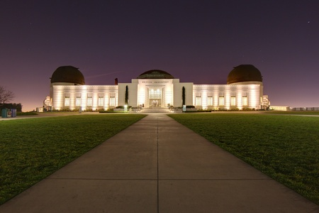 observatory: Griffith Observatory in Los Angeles, California Stock Photo