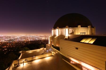 Griffith Observatory di Los Angeles, California Archivio Fotografico