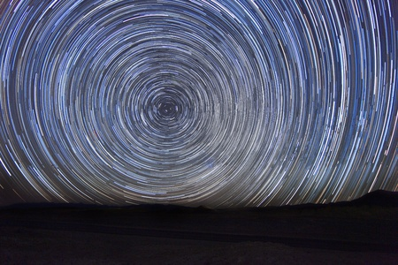 Long Exposure Time Lapse Image of the Night Stars