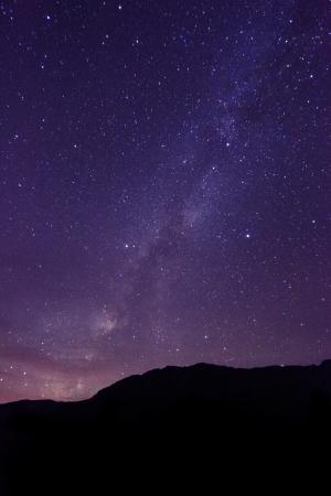 Hosszú expozíciós Time Lapse Kép a Night Stars