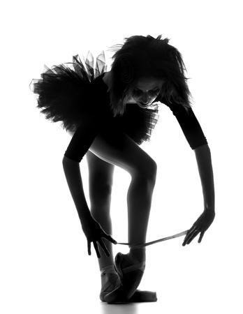Ballerina Woman in Studio photo