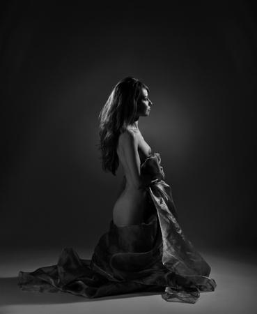 desnudo artistico: Mujer desnuda en el ambiente de estudio