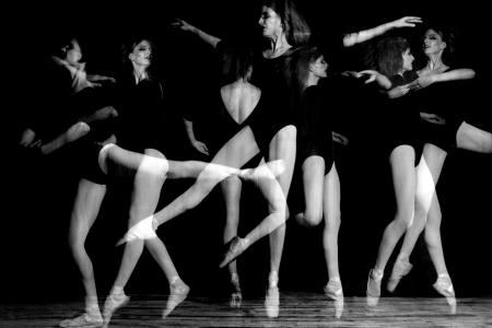 expertise: Ghostly Multiple Exposure Image of Ballerina Dancer