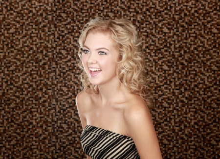 Portrait of Young Beautiful Blonde Posing Stock Photo - 16035259