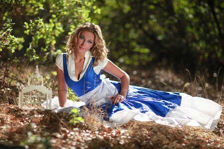 Beautiful Blonde Caucasian Woman Outdoors Stock Photo - 16796710