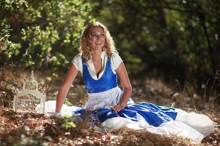 Beautiful Blonde Caucasian Woman Outdoors Stock Photo - 16796719