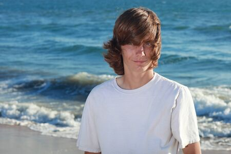 Portraits of a Teenage Boy at the Beach Stock Photo - 16796706