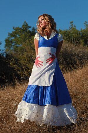 Beautiful Blonde Caucasian Woman Outdoors Stock Photo - 16796699