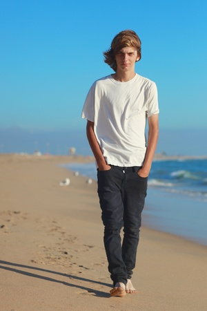 Portraits of a Teenage Boy at the Beach Stock Photo - 16796705