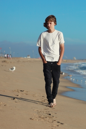 Portraits of a Teenage Boy at the Beach photo