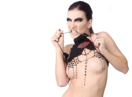 Sexy Woman Wearing High Fashion Jewelry Stock Photo - 16796716