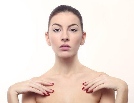 Beautiful Fresh Image of a Woman on White Stock Photo - 17457518