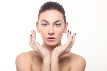 Beautiful Fresh Image of a Woman on White Stock Photo - 17457528