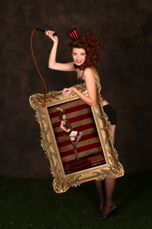 Circus Themed Pin Up Sexy GIrl Stock Photo - 17457580