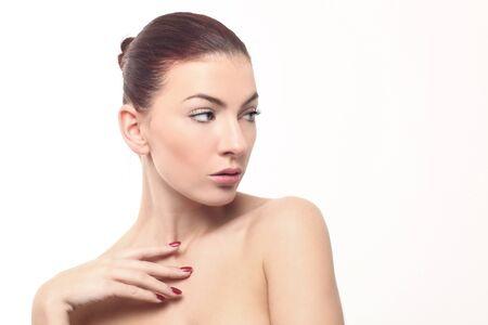 Beautiful Fresh Image of a Woman on White Stock Photo - 17827515