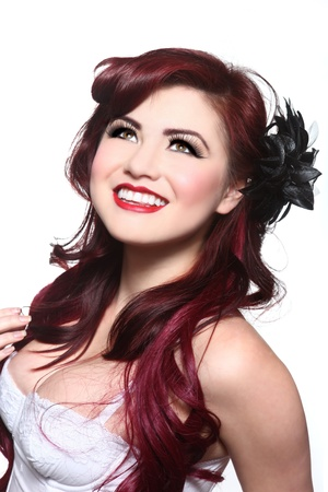 Beautiful Pin Up Style Girl in Studio Stock Photo - 17827523