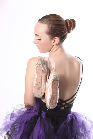 Portrait of a Beautiful Ballet Dancer Stock Photo - 18349039