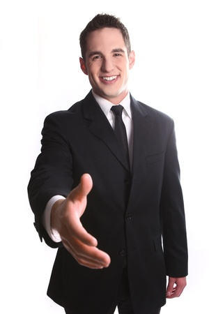 Portrait of a Smiling Young Business Man Stock Photo - 18349072