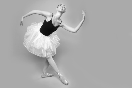 Portrait of a Beautiful Ballet Dancer Stock Photo - 18349077