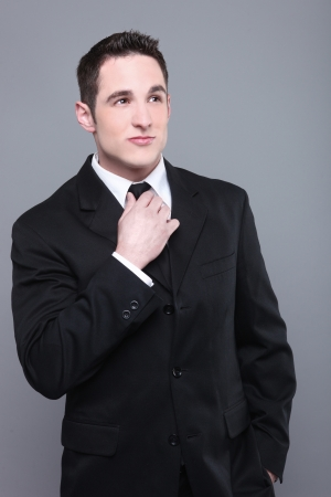 Portrait of a Smiling Young Business Man Stock Photo - 18349071