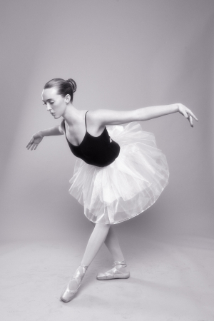 Portrait of a Beautiful Ballet Dancer Stock Photo - 18349031