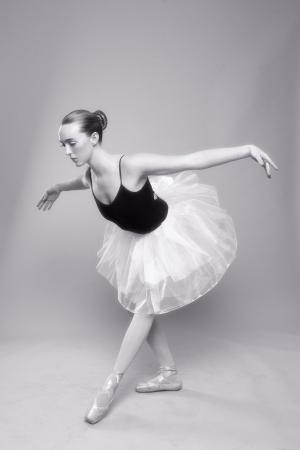 Portrait of a Beautiful Ballet Dancer Stock Photo - 18349031