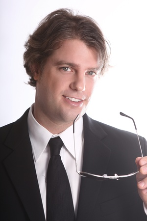 Portrait of a Smiling Young Business Man Stock Photo - 18349065