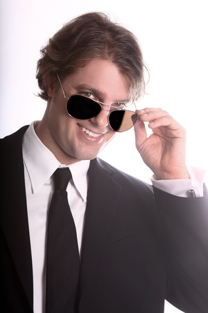 Portrait of a Smiling Young Business Man Stock Photo - 18349069