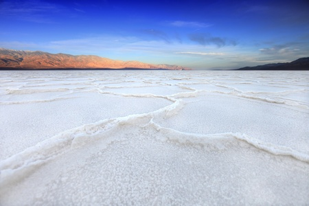 Salt Formations in Death Valley California Bad Water  Stock Photo - 19485831