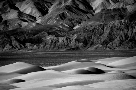 Sand Dune Formations in Death Valley National Park, California Stock Photo - 19485858