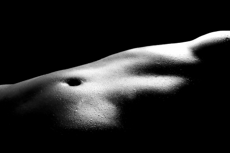 naked girl body: Bodyscape Image of a Nude Woman Stock Photo