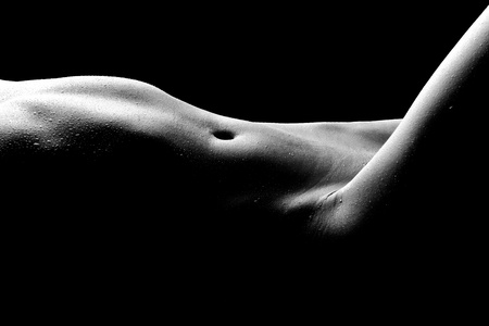 naked belly: Bodyscape Image of a Nude Woman Stock Photo