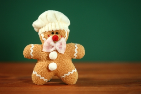 Happy Stuffed Homemade Gingerbread Christmas Man photo
