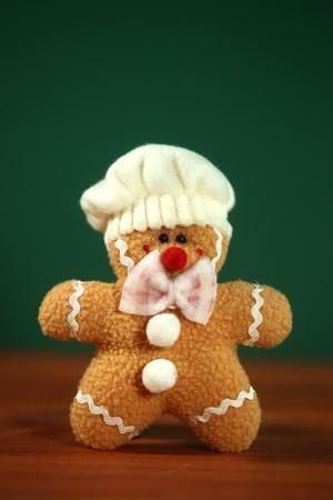 Happy Stuffed Homemade Gingerbread Christmas Man Stock Photo - 21776437