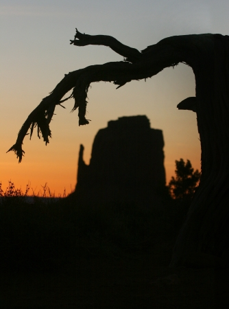 Beautiful Monument Valley Silhouette Landscape With Extreme Depth of FIeld photo