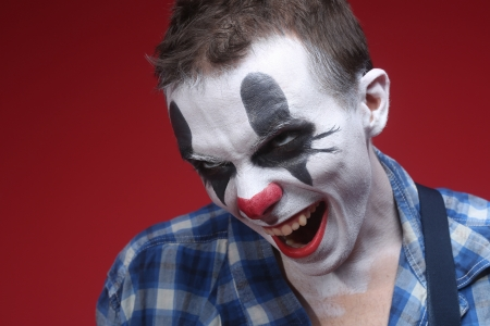 Evil Spooky Clown Portrait Stock Photo