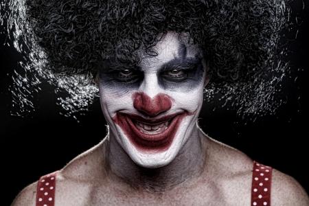 clown's nose: Evil Spooky Clown Portrait