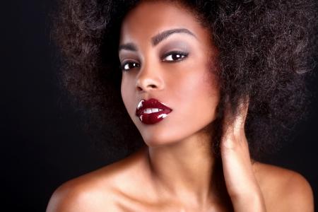 žena: Ohromující Portrét afro-americká černoška